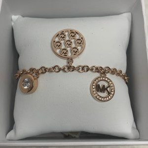 NWT-Michael Kors Rose Gold Slider Bracelet